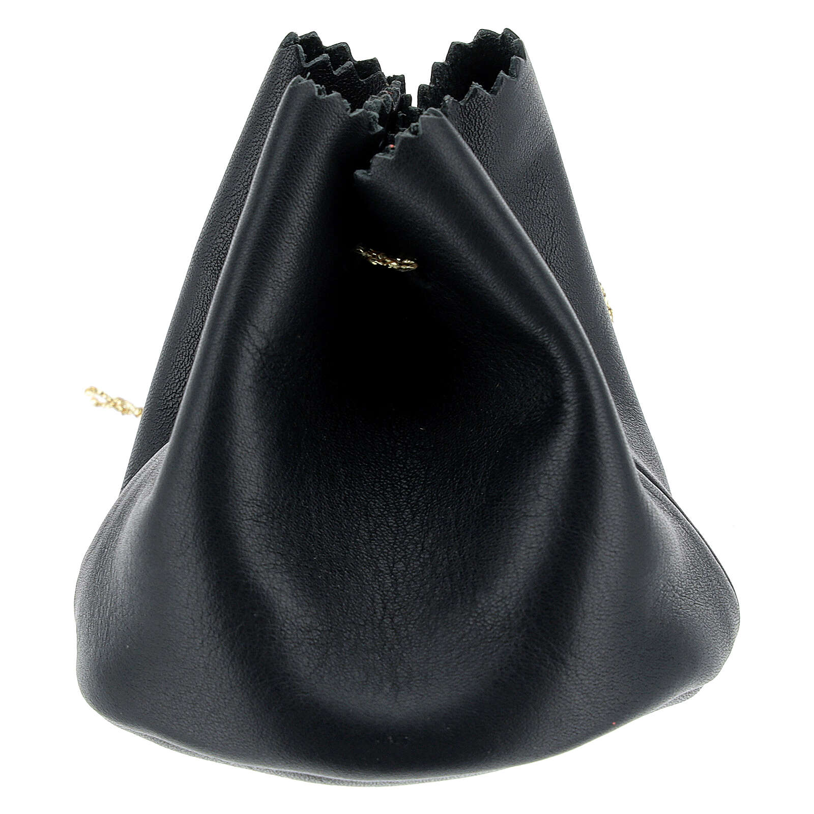 Holy oil bag in black leather 3