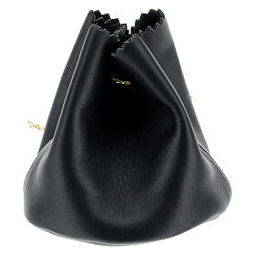Holy oil bag in black leather s2