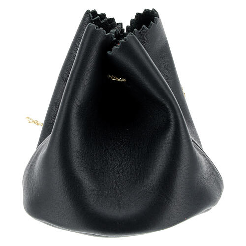 Holy oil bag in black leather 2