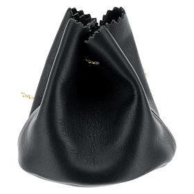 Sachet pour Huile Sainte en cuir véritable noir s2