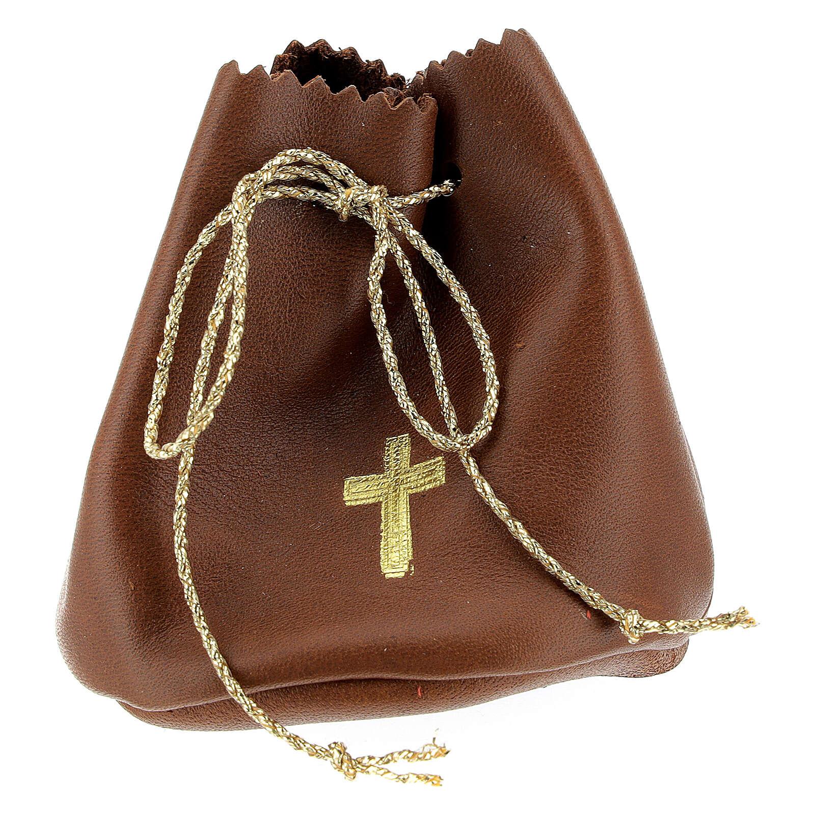 Bolsa para Santos Óleos de verdadero cuero marrón 3