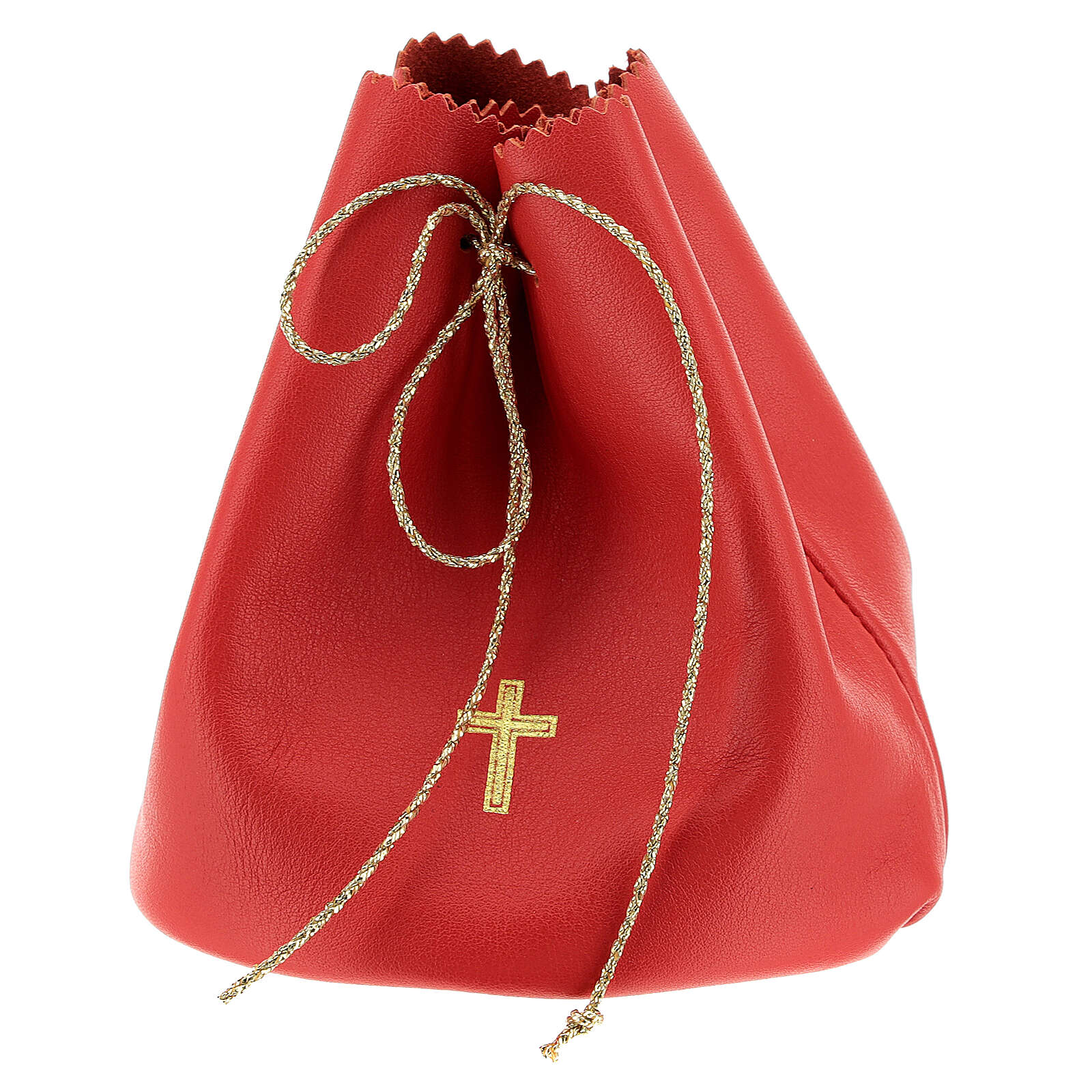 Red leather bag for 3 Holy oils stocks 3