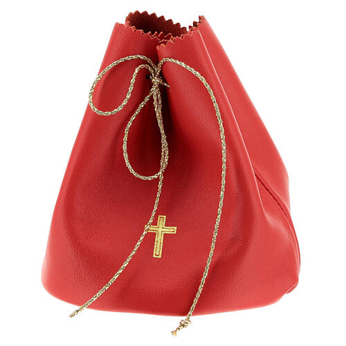 Red leather bag for 3 Holy oils stocks 1
