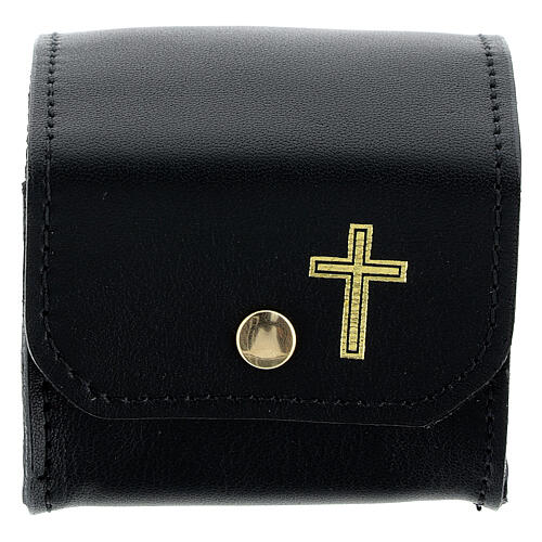 Black leather holy oil case 1