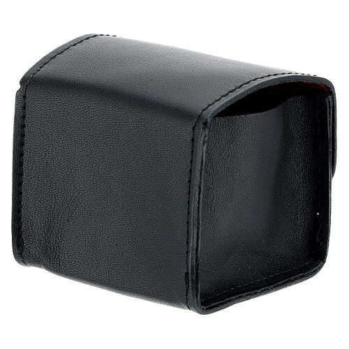 Black leather holy oil case 2