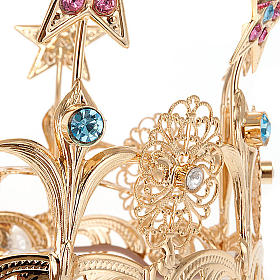 Luminous crown in brass filigree gold color s4