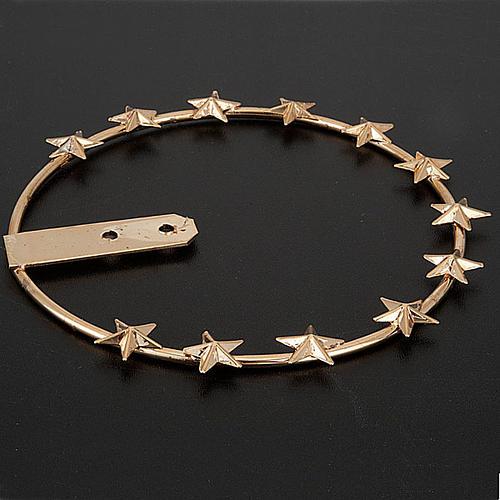 Aro de metal dorado - filigrana 3