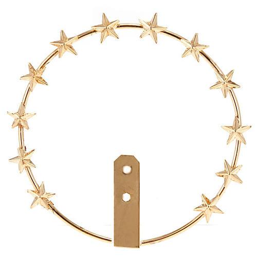 Aureola Madonna ottone dorato filigrana 1