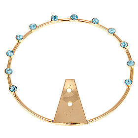 Saint's Halo in Brass with Blue Rhinestones s1