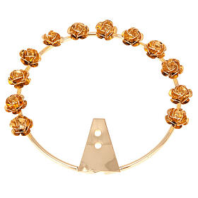 Our Lady halo golden brass - roses s1