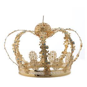 Corona latón dorado - estrás azul s2
