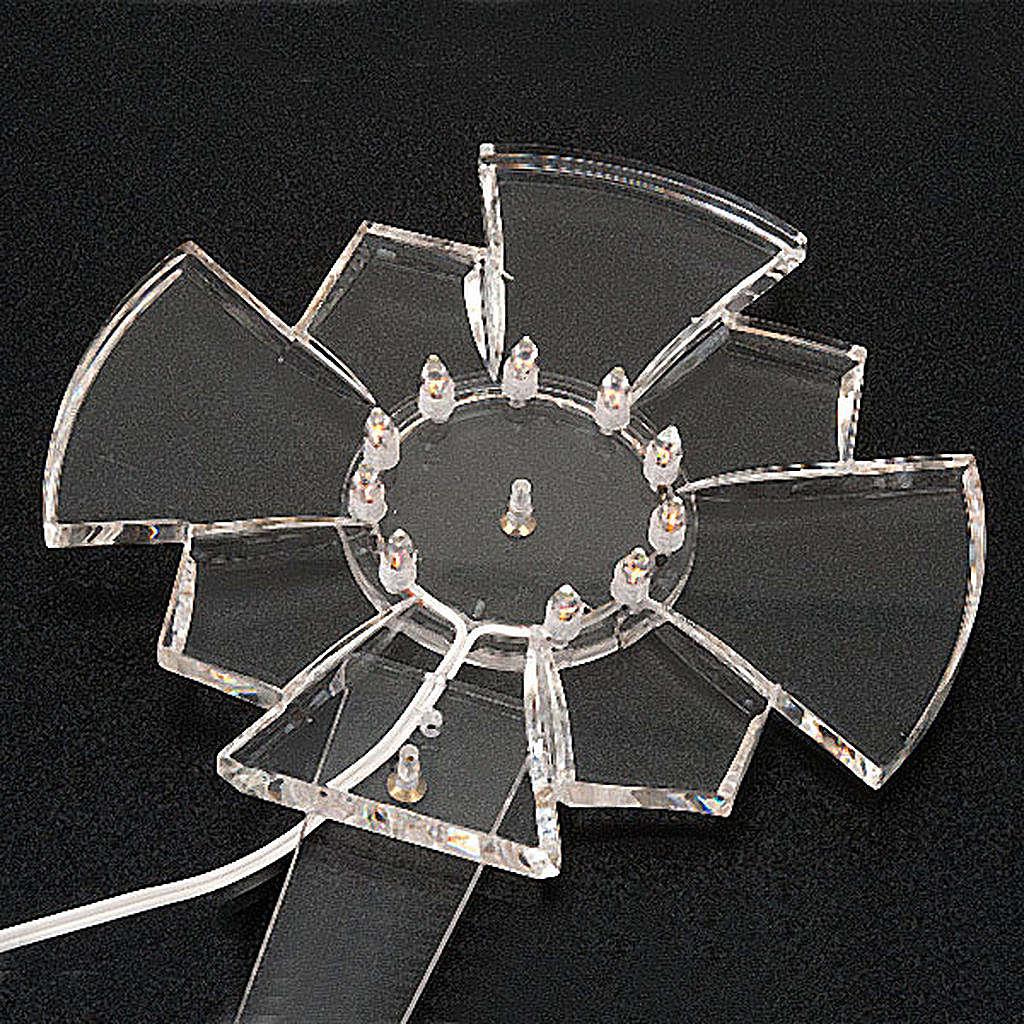 Aureola in plexiglass luminosa Lampadine 3