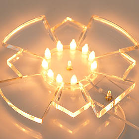 Aureola in plexiglass luminosa Lampadine s4
