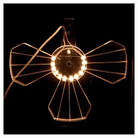 Aureola in plexiglass luminosa Lampadine s3