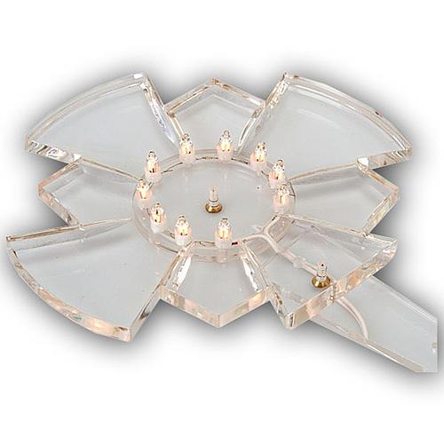 Aureola in plexiglass luminosa Lampadine 1