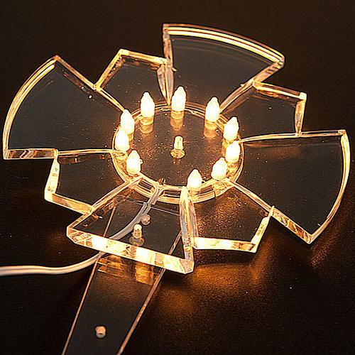 Aureola in plexiglass luminosa Lampadine 2
