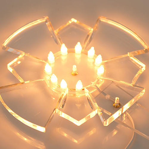 Aureola in plexiglass luminosa Lampadine 4