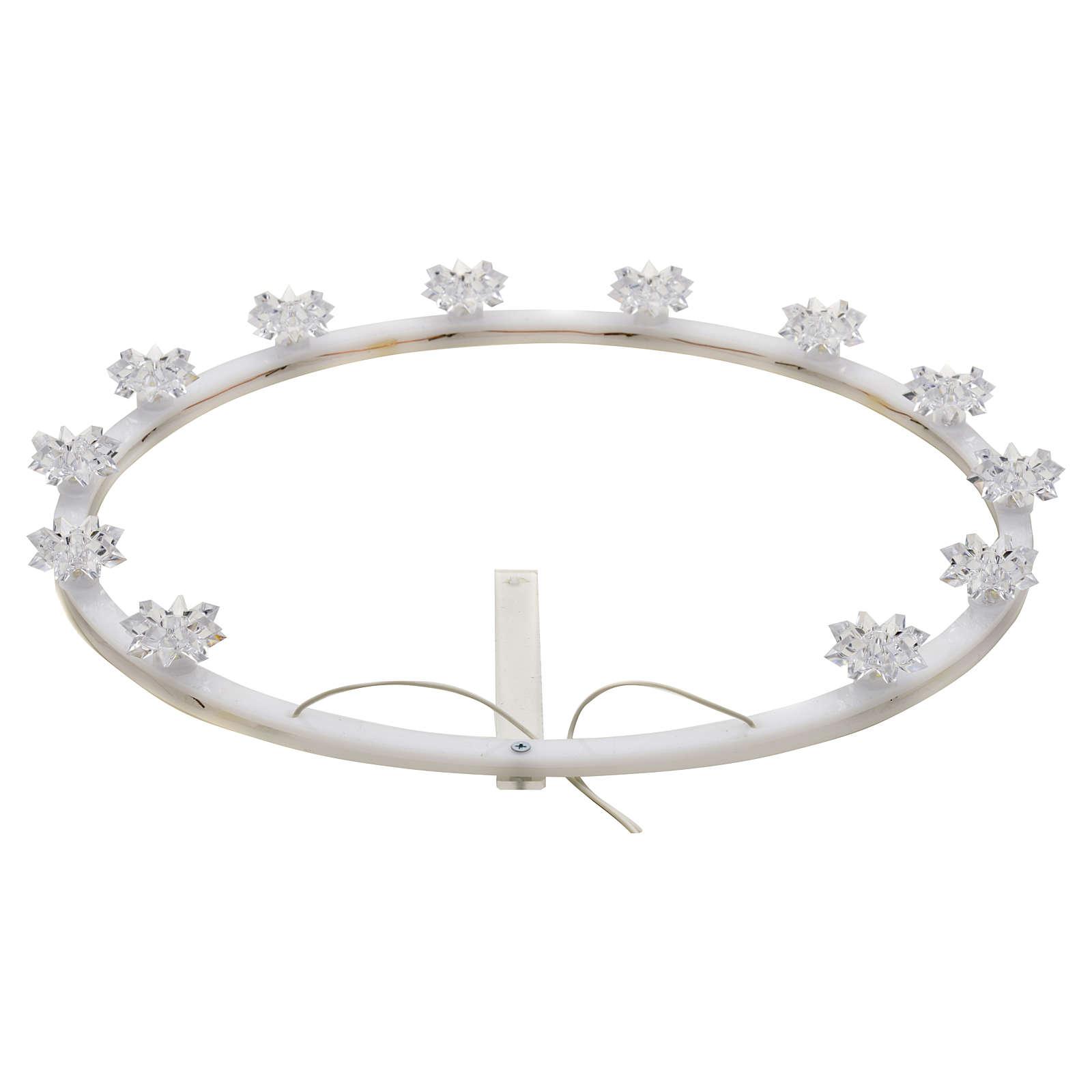 Plexiglas luminous halo with flowers 3