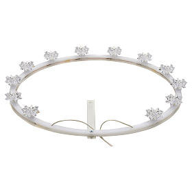 Crowns and halos for religious statues: Plexiglas luminous halo with flowers