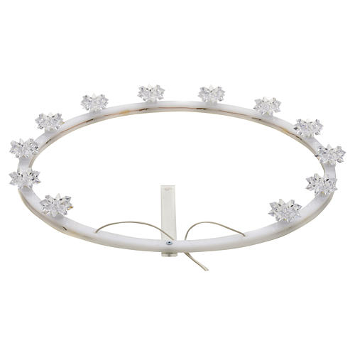 Auréole lumineuse plexiglas fleurs 1