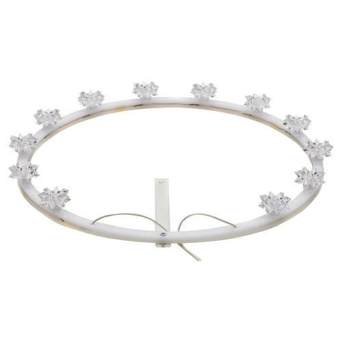 Świetlisty krąg pleksiglas kwiaty 1