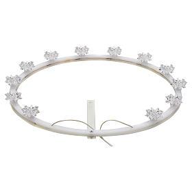 Coroas, Auréolas e Resplendores para Imagenes Religiosas: Auréola em acrílico luminosa flor