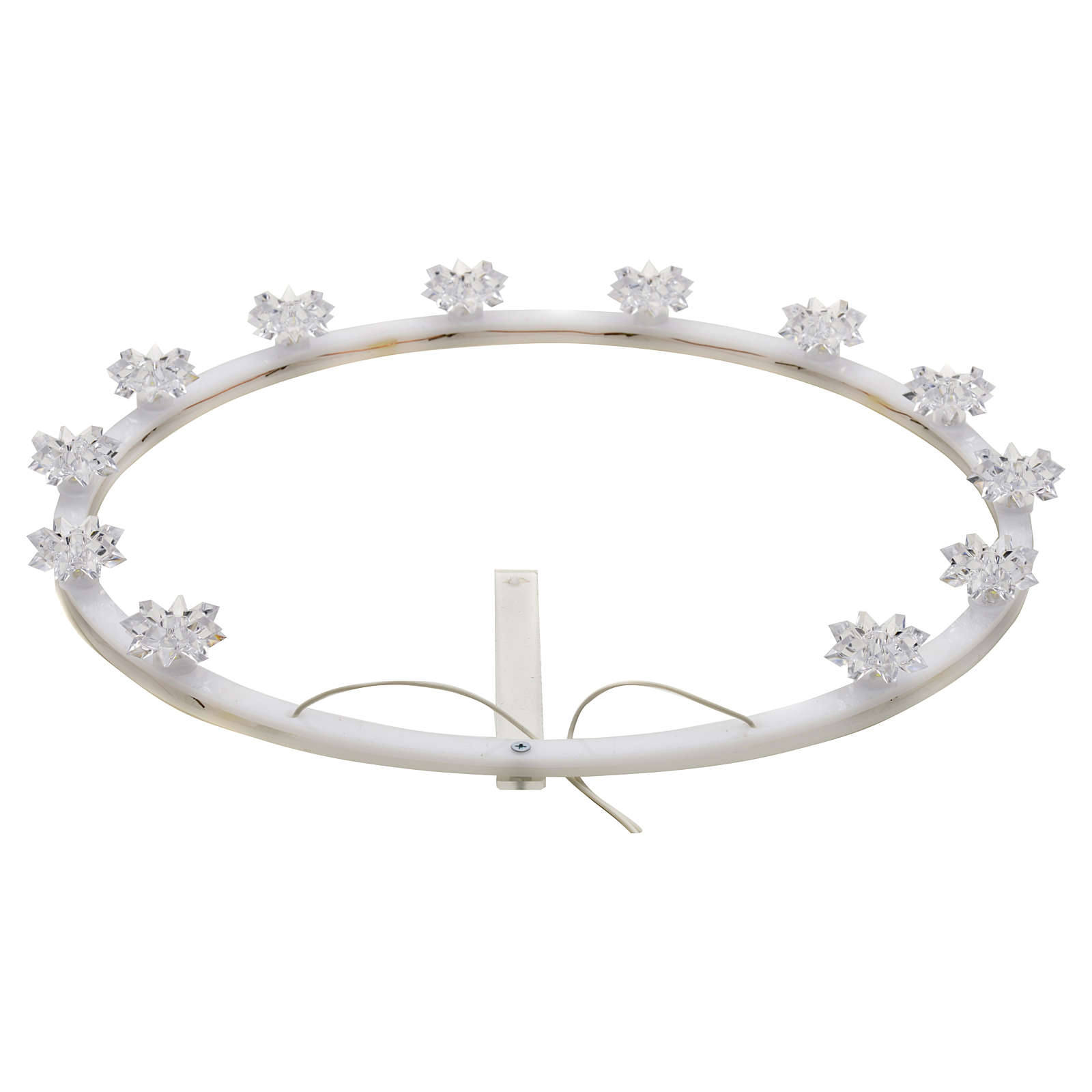 Plexiglas luminous halo with flowers 3