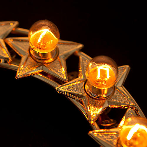 Luminous halo with bulbs golden brass 2