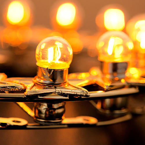 Luminous halo with bulbs golden brass 4