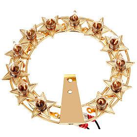 Aros y Coronas: Aureola con estrellas bombillas latón dorado