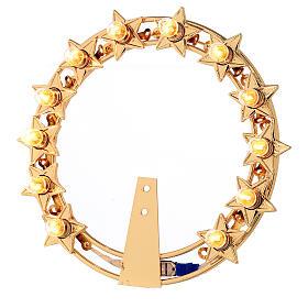 Aureola con estrellas bombillas latón dorado s1