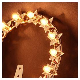 Aureola con estrellas bombillas latón dorado s3