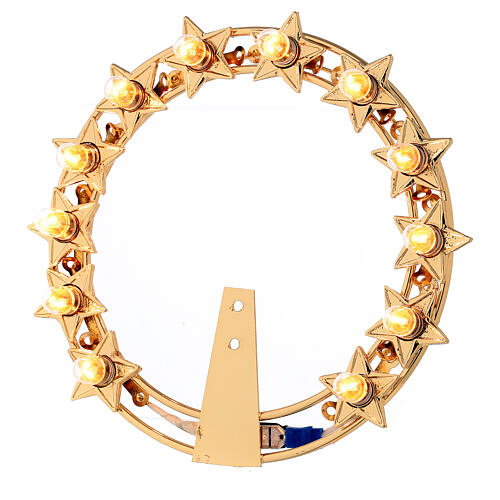 Aureola con estrellas bombillas latón dorado 1