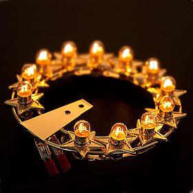 Auréole lumineuse ampoules laiton doré s3