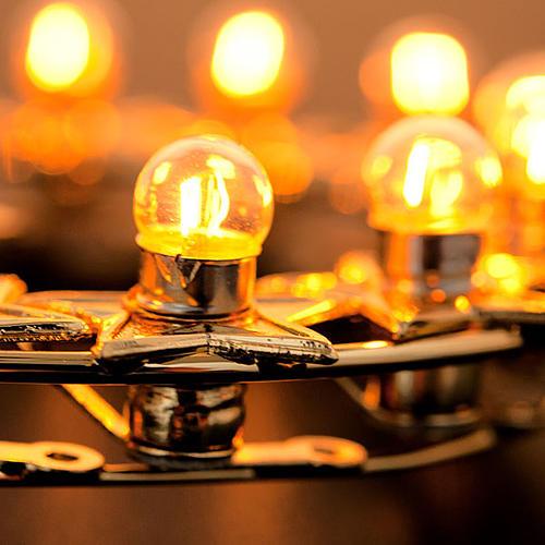 Auréole lumineuse ampoules laiton doré 4