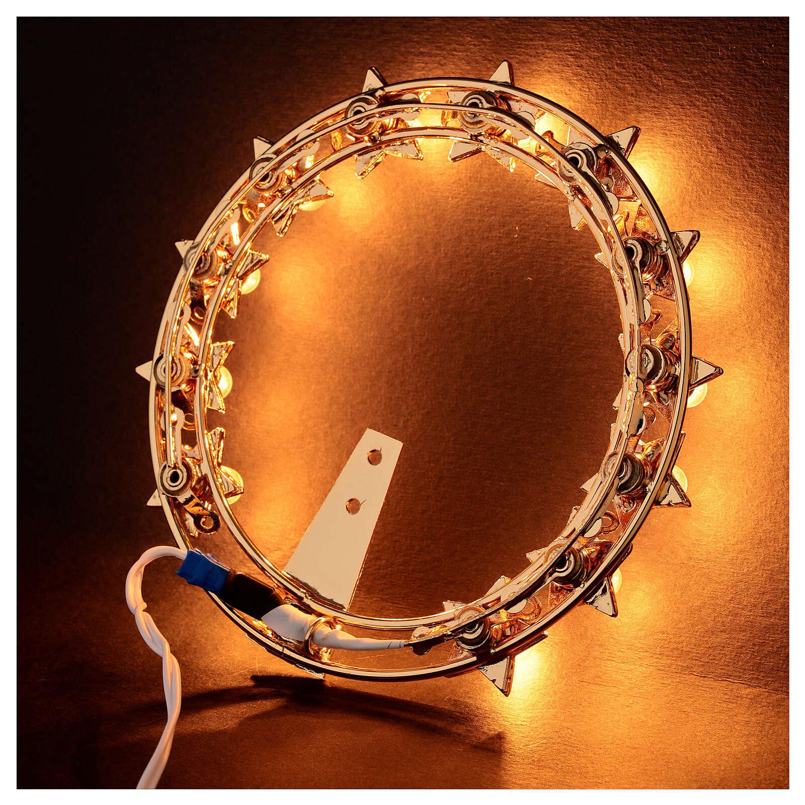 Auréola luminosa lâmpadas latão dourado 3