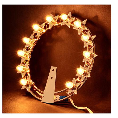 Auréola luminosa lâmpadas latão dourado 2
