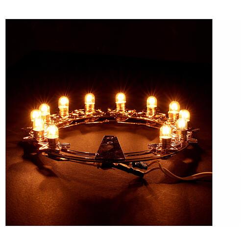 Auréola luminosa lâmpadas latão dourado 4