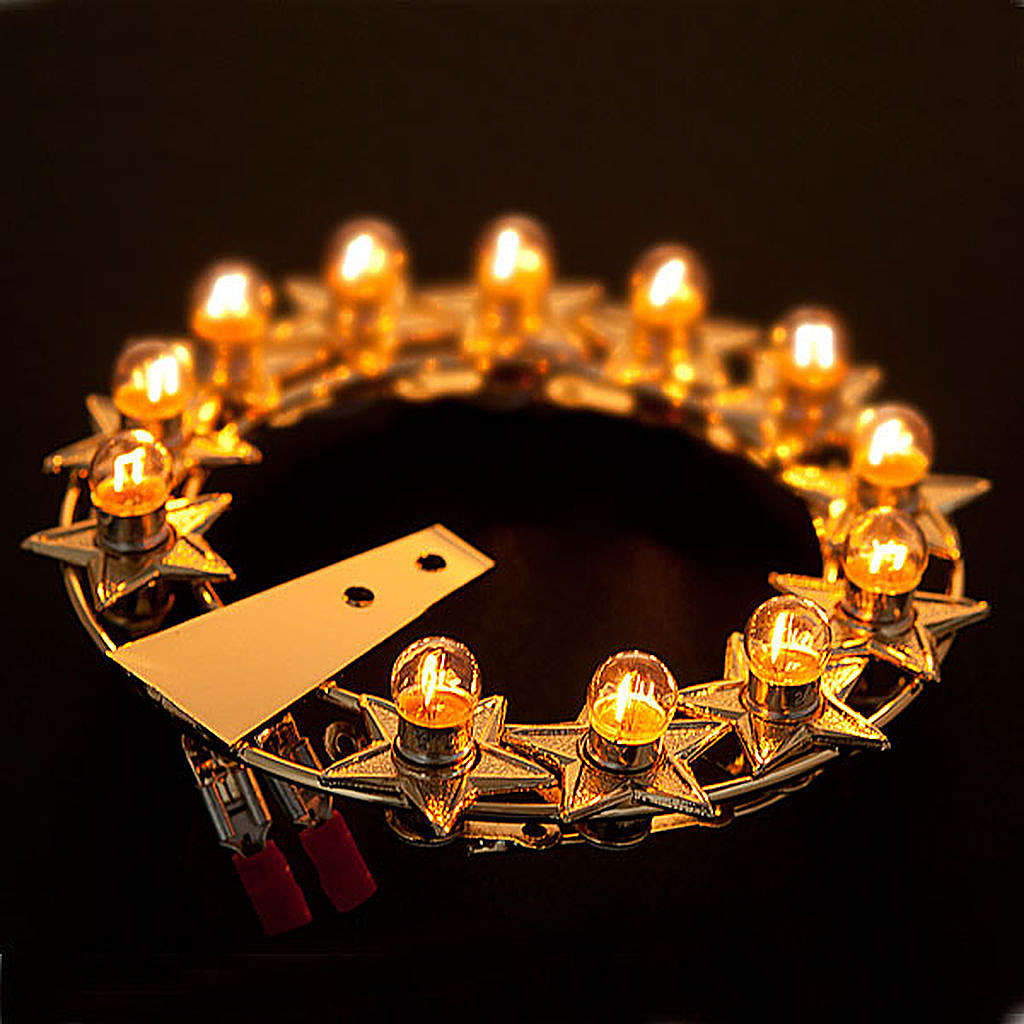 Luminous halo with bulbs golden brass 3