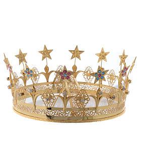 Corona Virgen latón dorado y filigrana s2