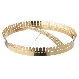 Corona latón dorado y filigrana s1