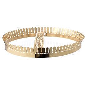 Corona latón dorado y filigrana s3