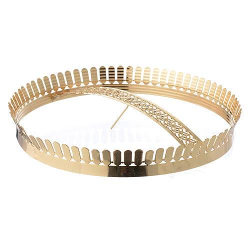 Corona latón dorado y filigrana 1
