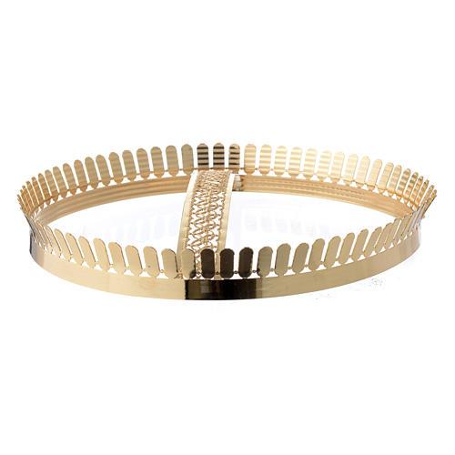 Corona latón dorado y filigrana 3