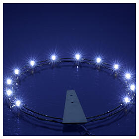 Luminous halo in gilded brass with LED, 30 cm dia s4
