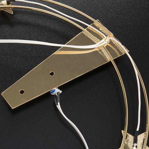 Luminous halo in gilded brass with LED, 30 cm dia 7