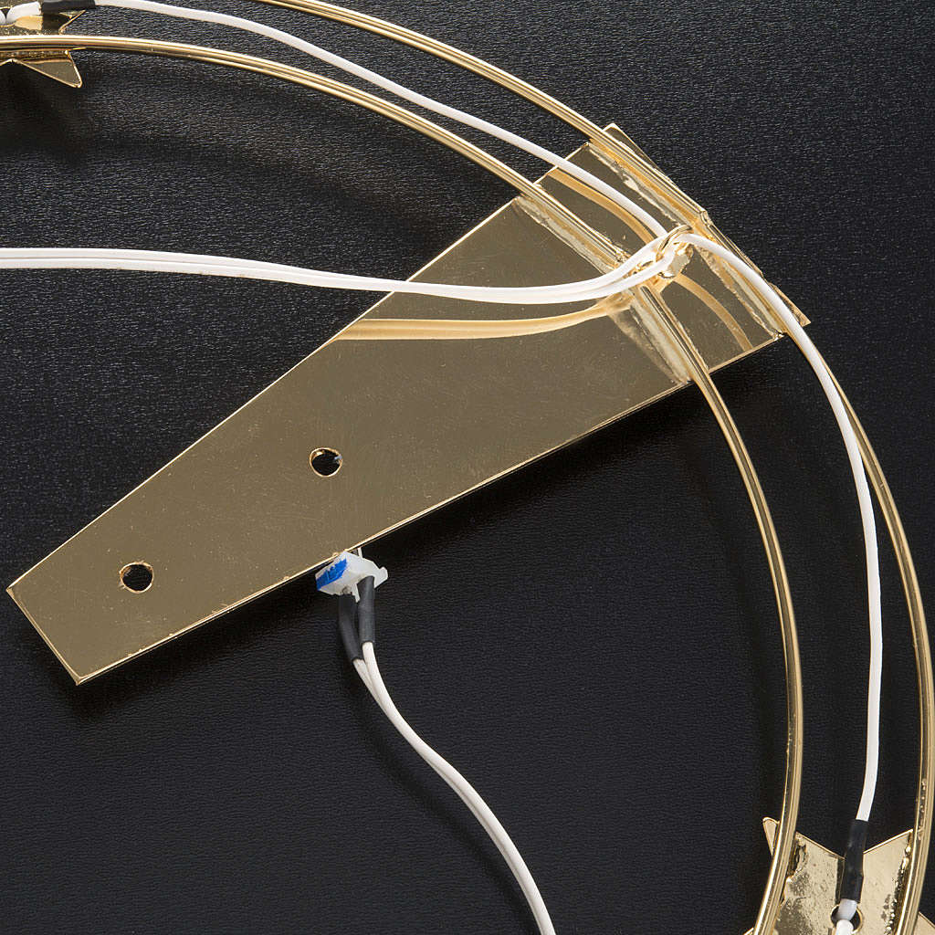 Aureola Luminosa LED de latón dorado diam. 30cm 3