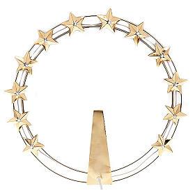 Aureola Luminosa LED de latón dorado diam. 30cm s1