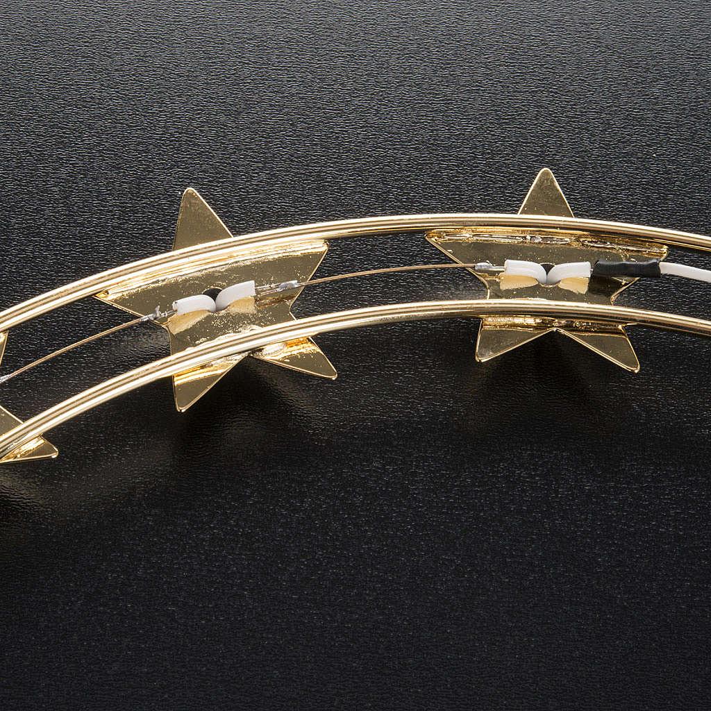 Aureola luminosa LED ottone dorato diam. 30 cm 3