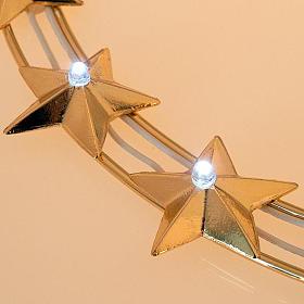 Aureola luminosa LED ottone dorato diam. 30 cm s3
